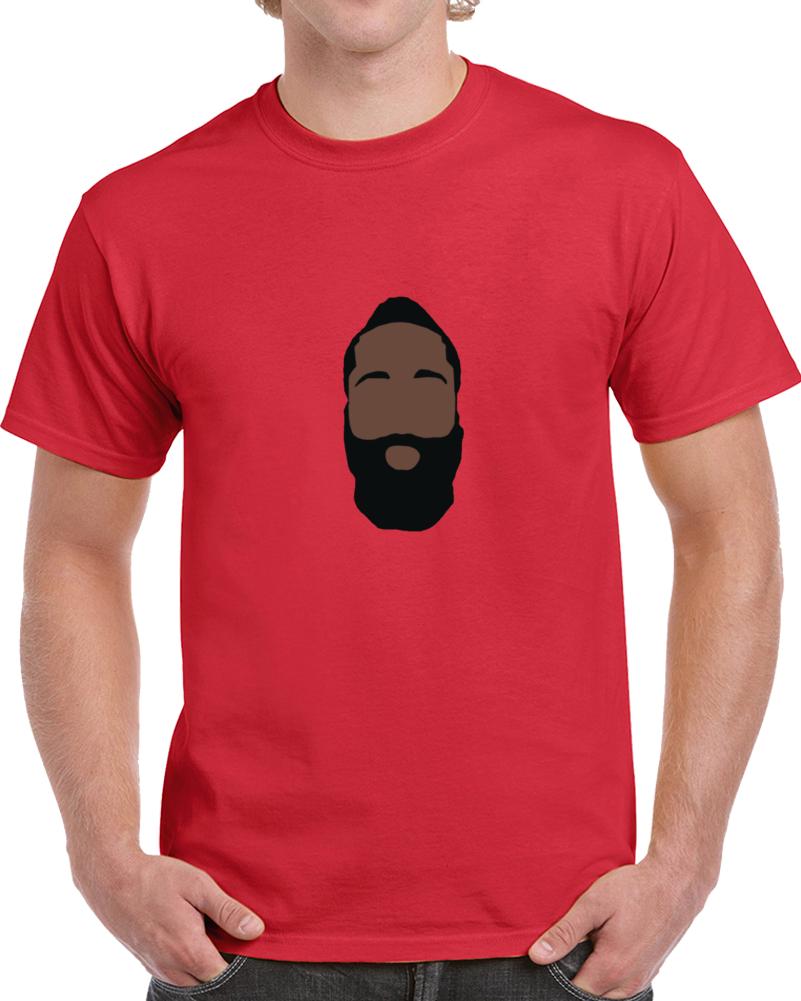 James Harden Silhouette Face Big Head Houston Basketball T Shirt