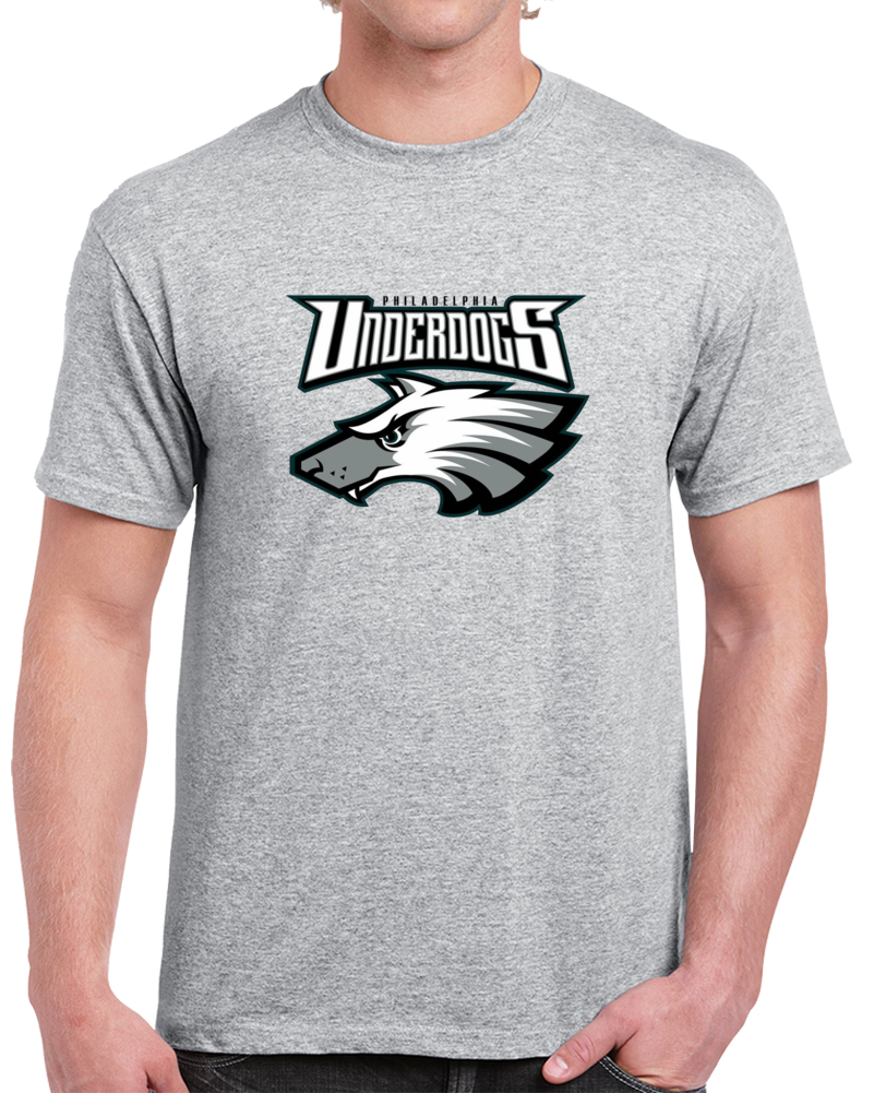 Philadelphia Underdogs Champions Hybrid Logo Football T Shirt