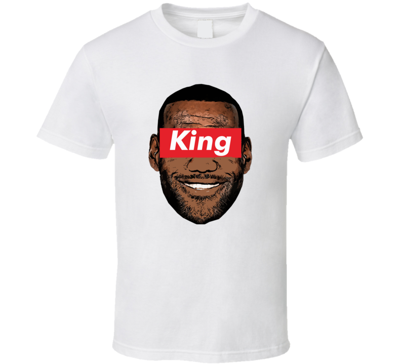 Lebron King James Big Head Silhouette Basketball T Shirt