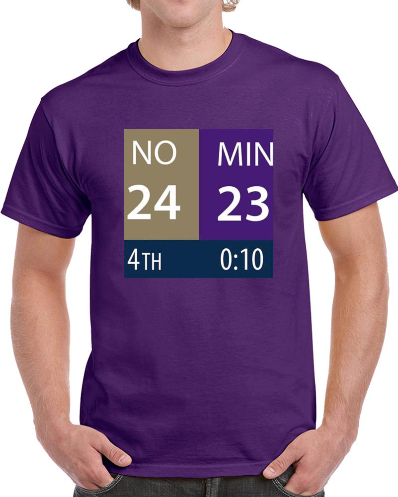 Minnesota Miracle Comeback Game Clock Scoreboard Football T Shirt