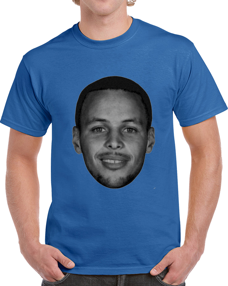 Steph Curry Big Head Silhouette Golden State Basketball T Shirt