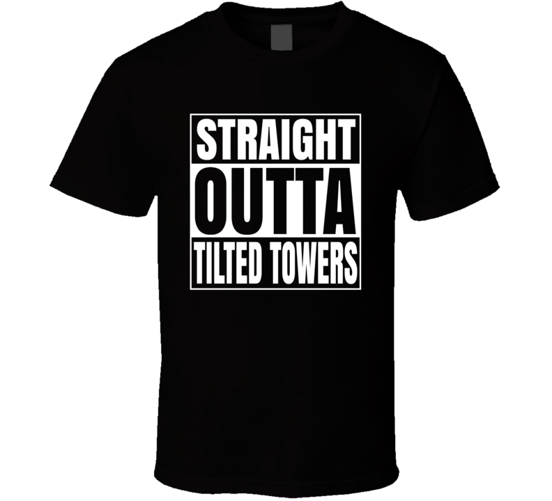 Straight Outta Tilted Towers Video Game Fortnite Gaming T Shirt