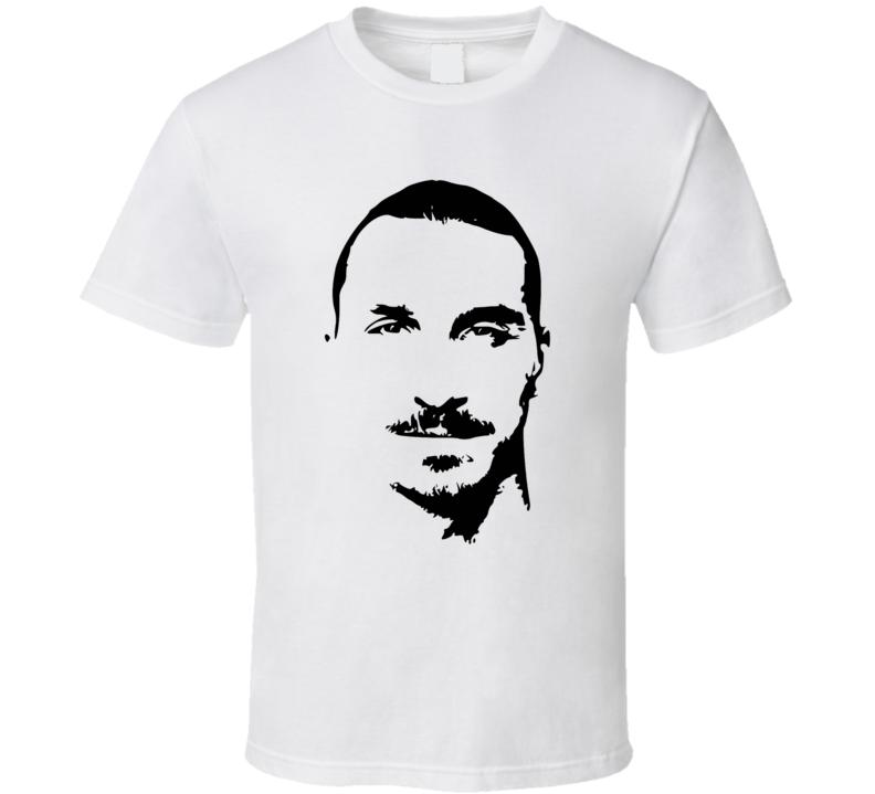 Zlatan Ibrahimovic Big Head Sihouette Cool Soccer Star T Shirt