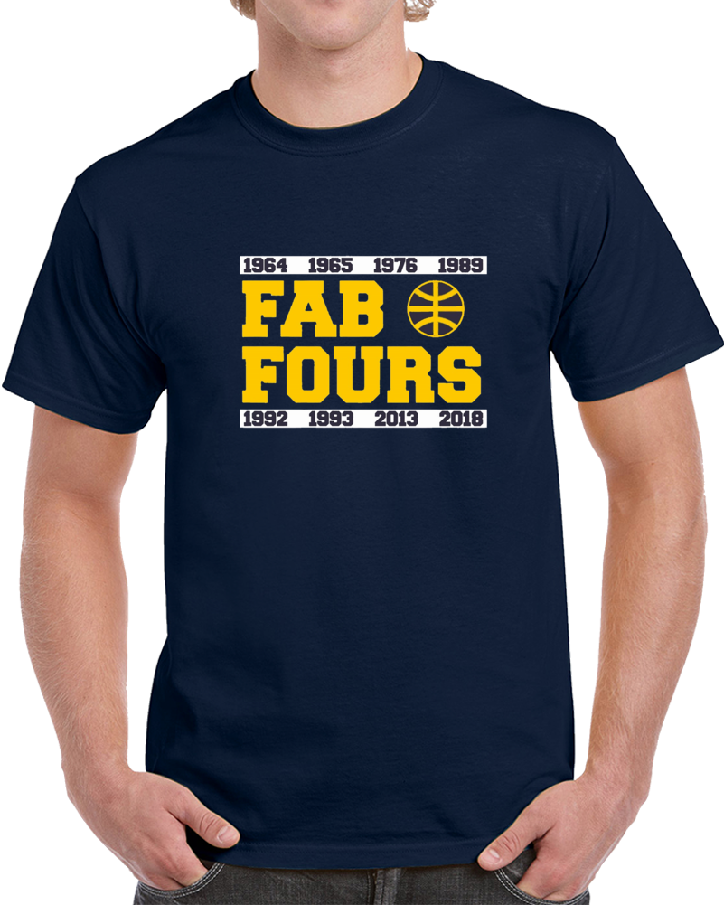 Fab Fours Michigan March Madness Wolverine Basketball T Shirt