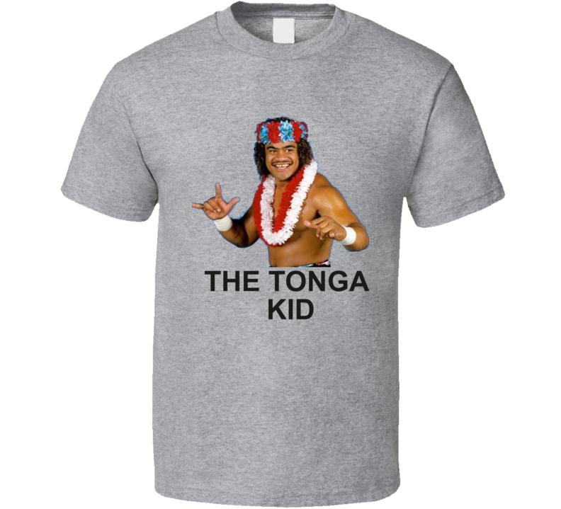 Sam Fatu The Tonga Kid Wrestler Vintage Retro Wrestling T Shirt