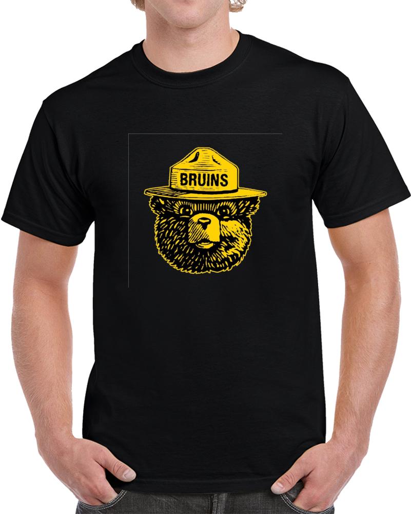 Boston Hockey Smokey Bear Face Parody T Shirt
