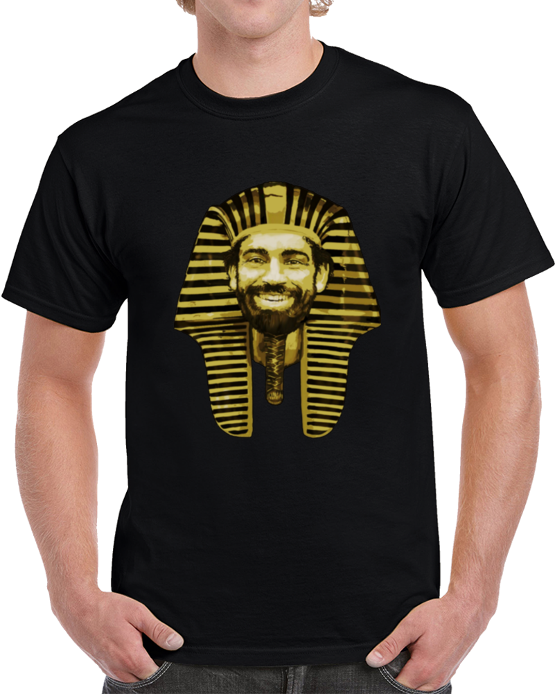 Liverpool Egypt Salah Premier League Big Head Caricature The Pharaoh Soccer Fan T Shirt
