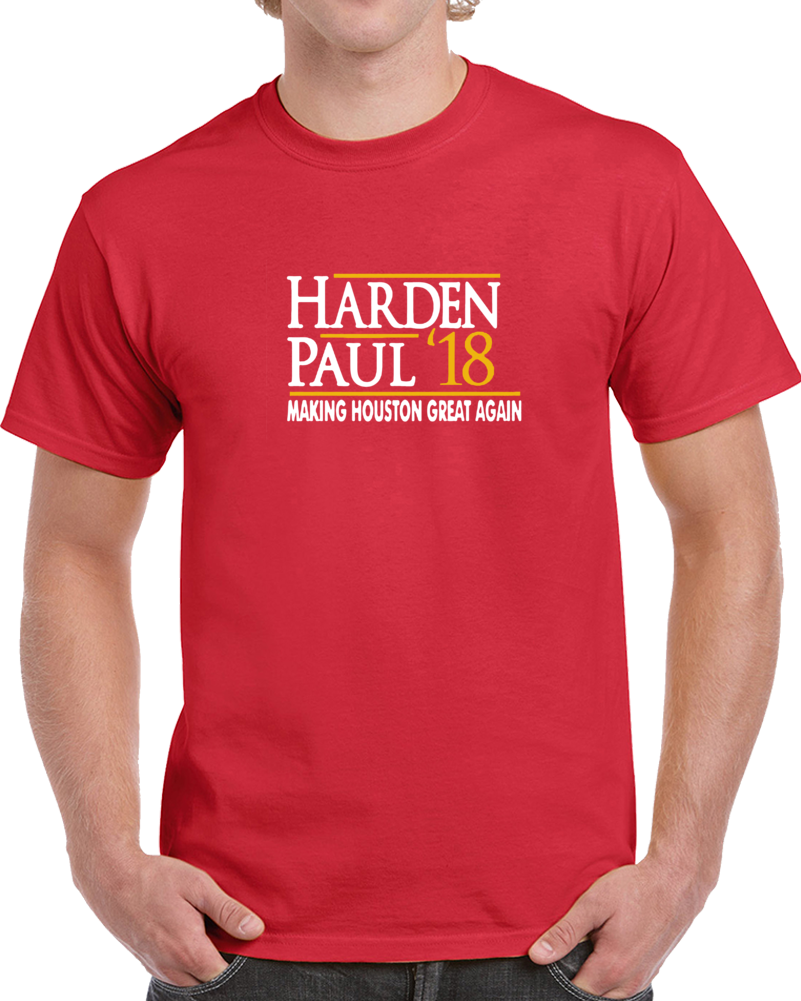 Kames Harden Chris Paul Ake Houston Great Again Basketball T Shirt