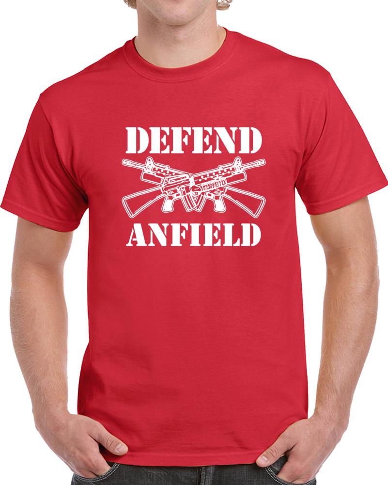 Liverpool Defend Anfield Soccer Fotball Fan Supporter T Shirt