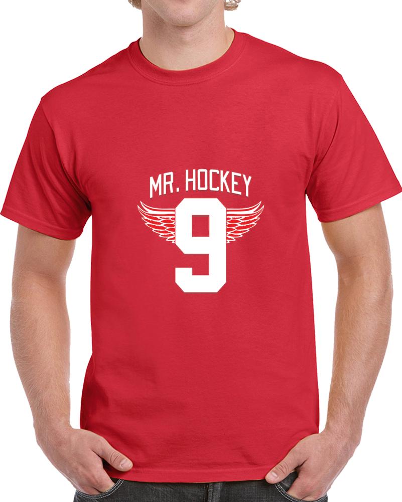 Gordie Howe Mr. Hockey Detroit Legend Heaven Tribute T Shirt