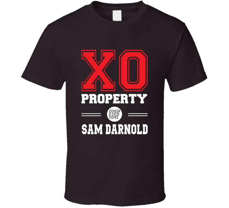 Sam Darnold Property Quarterback Qb Cleveland Football Dark Brown T Shirt