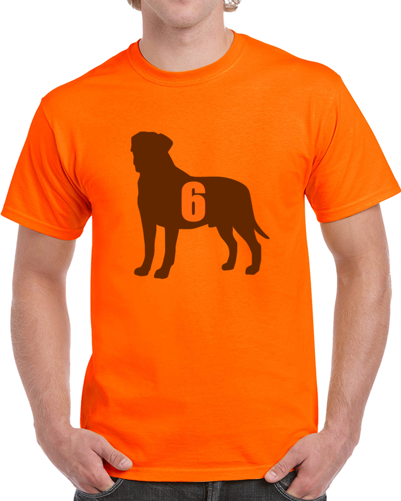 Baker Mayfield Goat Dog Parody 1st Pick Cleveland Football Orange T Shirt