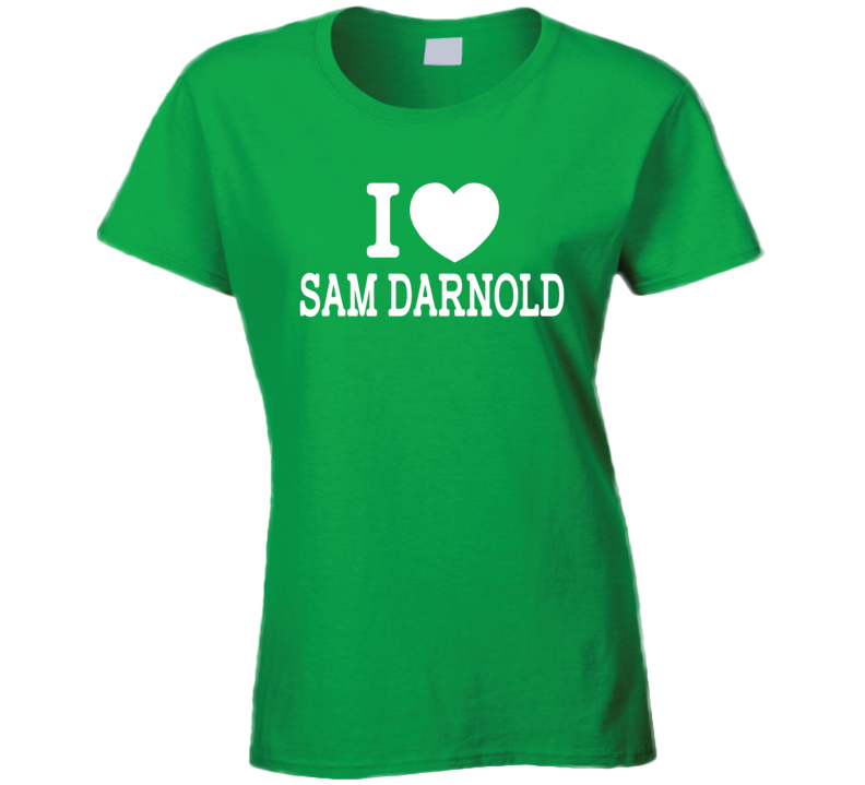 Sam Darnald Qb Draft Pick I Love New York Style Ladies Womens Green T Shirt