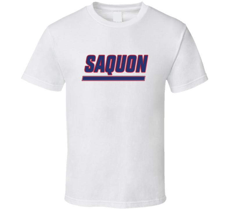 Saquon Barkley Running Back New York Hybrid Logo Football White T Shirt