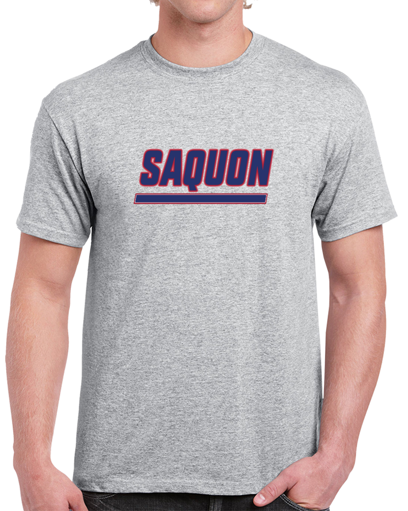 Saquon Barkley Running Back New York Hybrid Logo Football Soirt Gray T Shirt