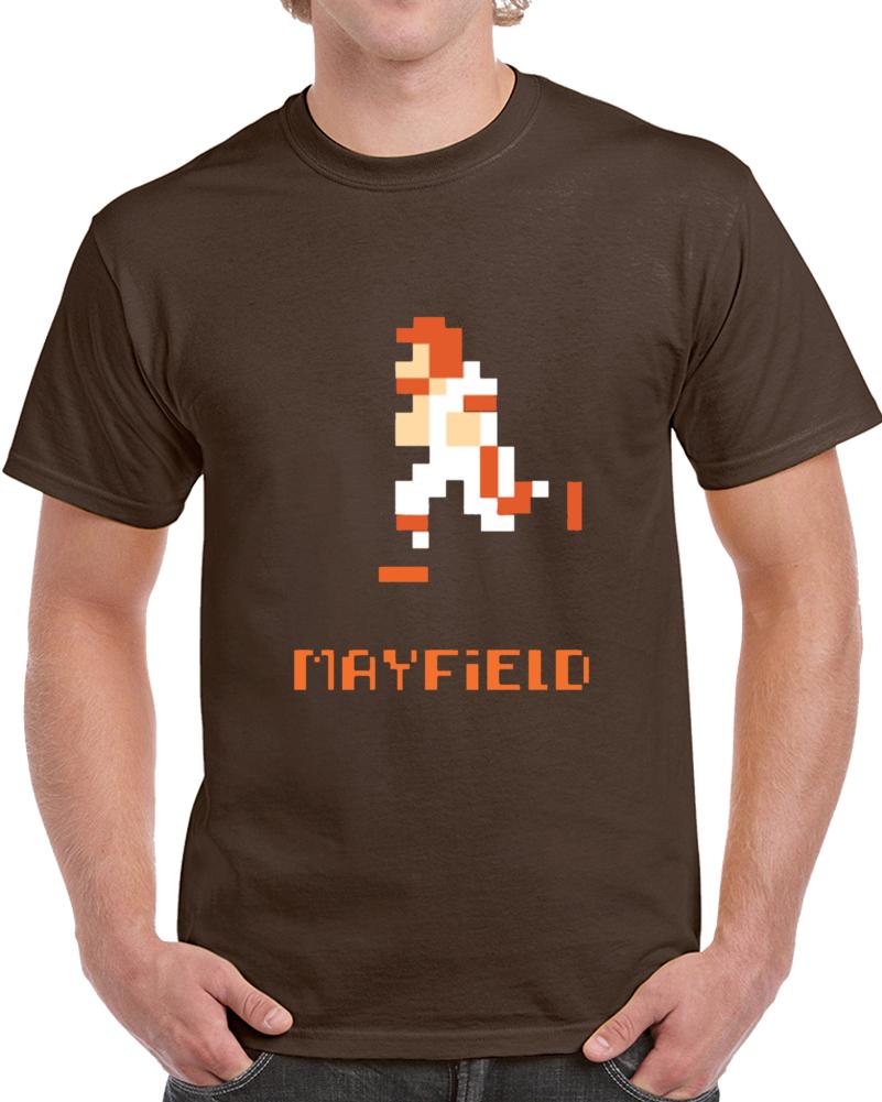 Baker Mayfield 8 Bit Tecmo Bowl Retro Vintage Cleveland Qb Football T Shirt