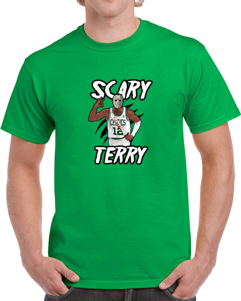 Scary Terry Bozier Jason Voorhees Halloween Boston Basketball T Shirt