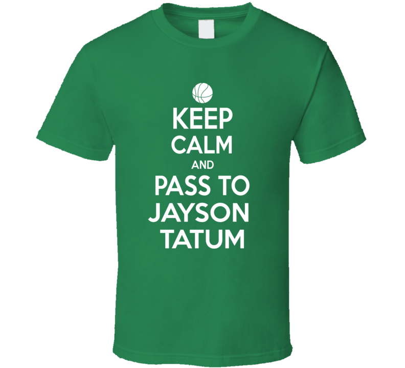 Jayson Tatum Keep Calm Boston Basketball Fan Supporter T Shirt