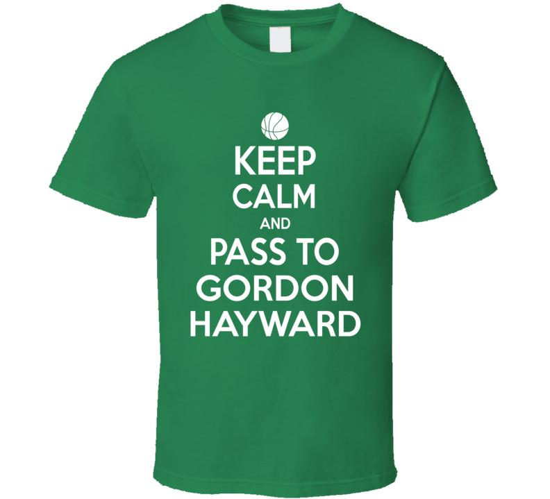 Gordon Hayward Keep Calm Boston Basketball Fan Supporter T Shirt