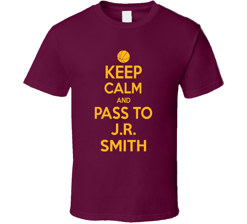 Keep Calm J.r. Smith Cleveland Basketball Ream Fan Supporter T Shirt