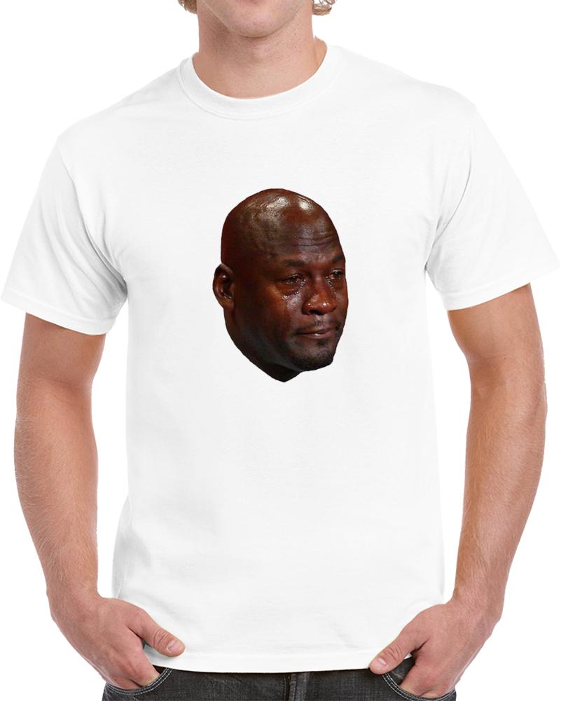 Michael Jordan Crying Parody Joke Funny Basketball T Shirt