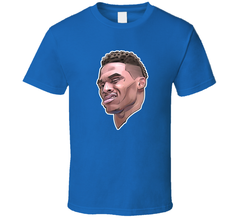 Russell Westbrook Mvp Interview Face Big Head Funny Basketball T Shirt