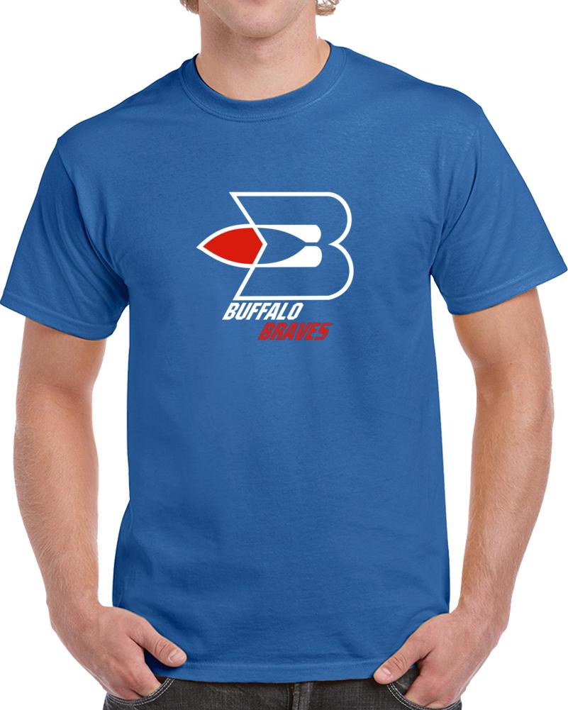 Buffalo Braves Defunct Professional Basketbal Team Retro Vintaget T Shirt