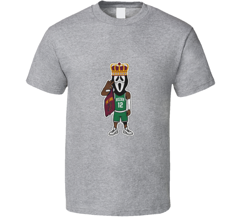 Scary Terry Rozier Scream Mask Lebron The King Boston Basketball Sport Grey T Shirt