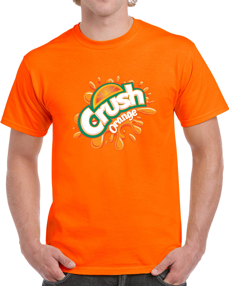 Orange Crsuh Pop Soda Drink Food Beverage T Shirt