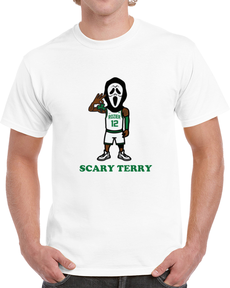 Scary Terry Rozier Scream Mask Boston Basketball Playoff Fan Supporter T Shirt