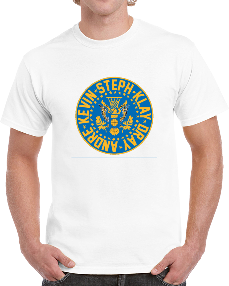 Hampton Five Golden State Basketball Players Fan Supporter T Shirt