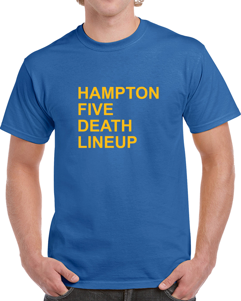 Hampton Five Death Lineup Golden State California Basketball Playoff T Shirt