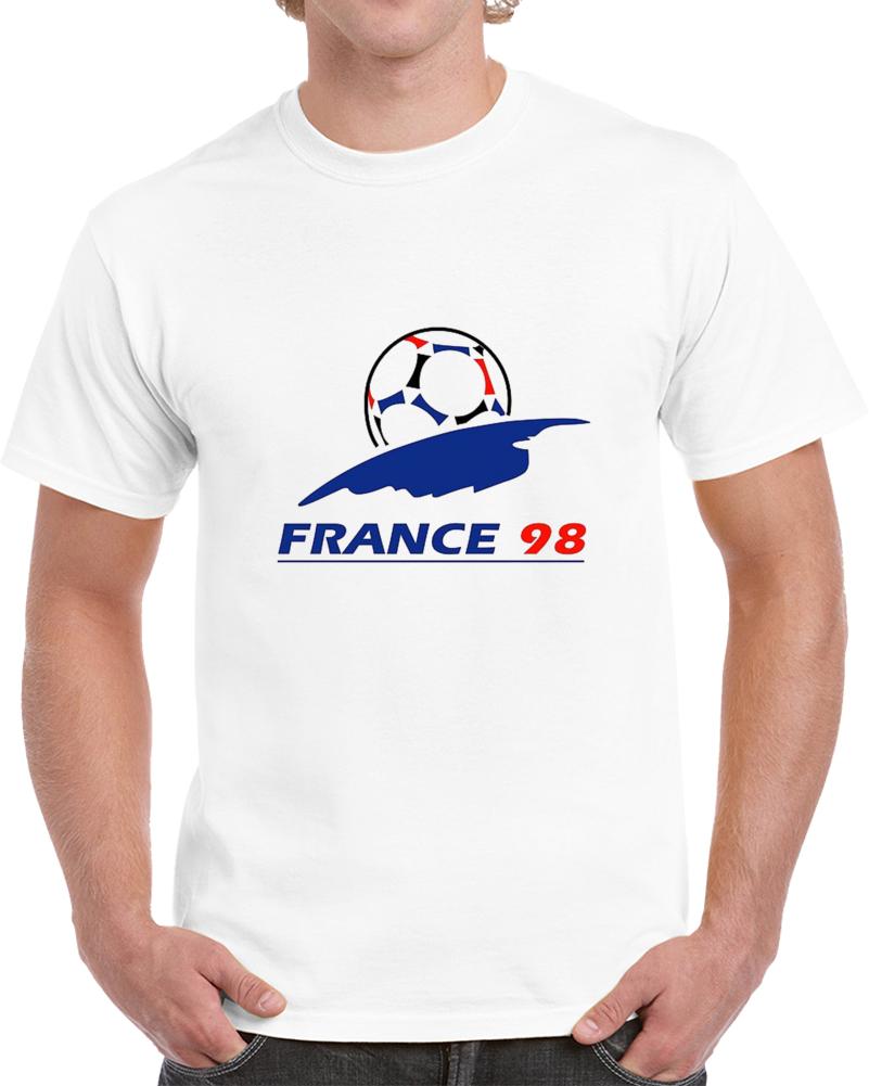France World Cup 1998 Football Soccer Tournament T Shirt