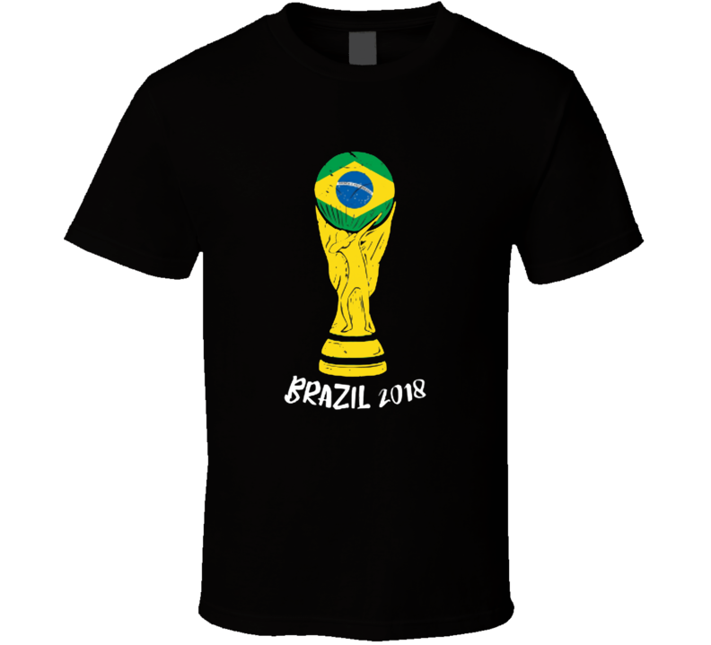 Brazil 2018 World Cup Soccer Team Fan Supporter T Shirt