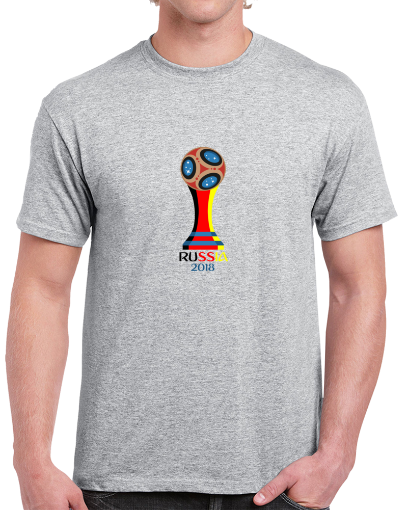 German Soccer Team 2018 World Cup Russia Fan Supporter Grey T Shirt