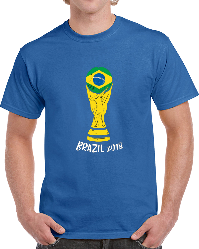 Brazil 2018 World Cup Trophy Dab Fan Supporter Soccer Tournament T Shirt