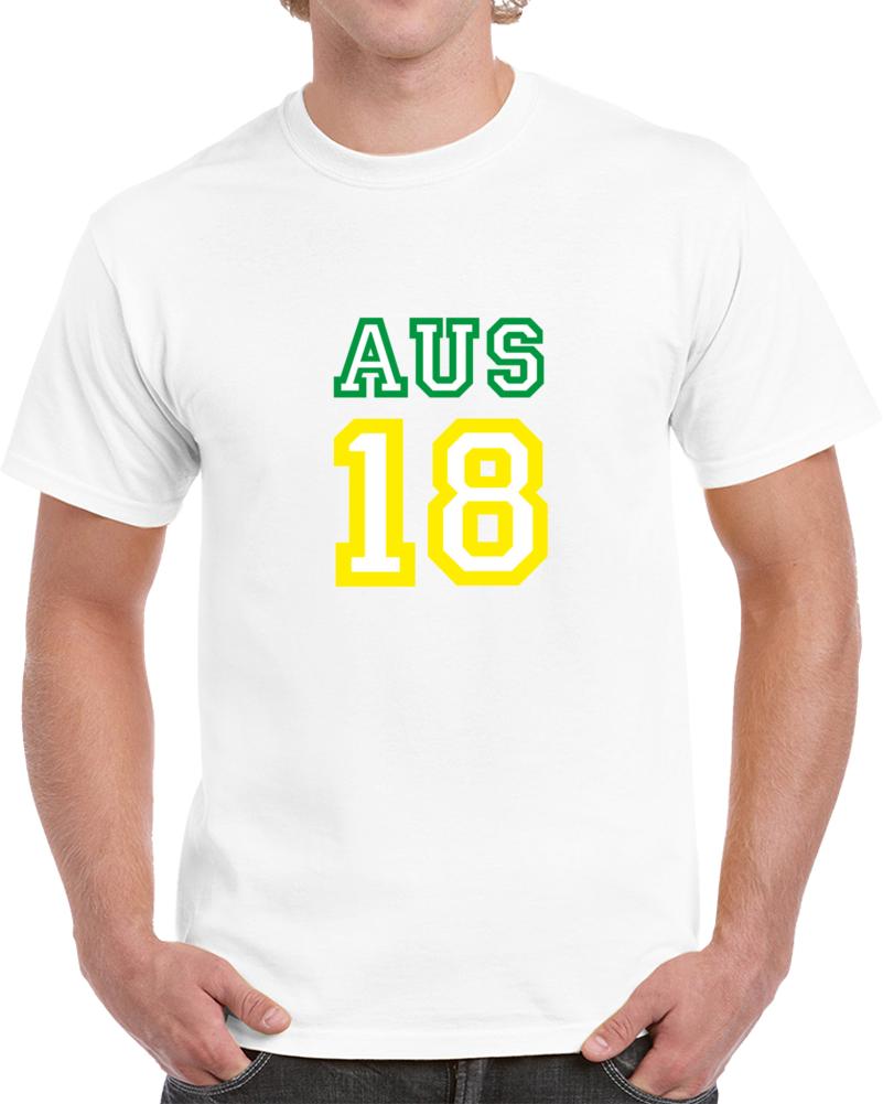 Australia 2018 World Cup Soccer 18 Fan Supporter T Shirt