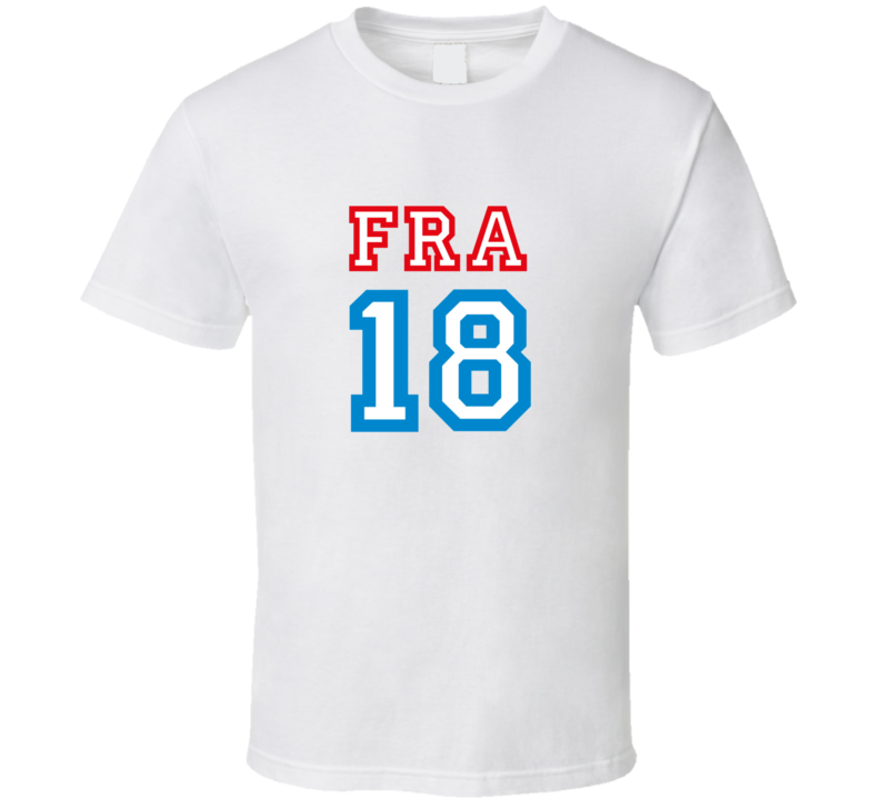 France 2018 World Cup Russia Fan Supporter 18 Ssoccer T Shirt