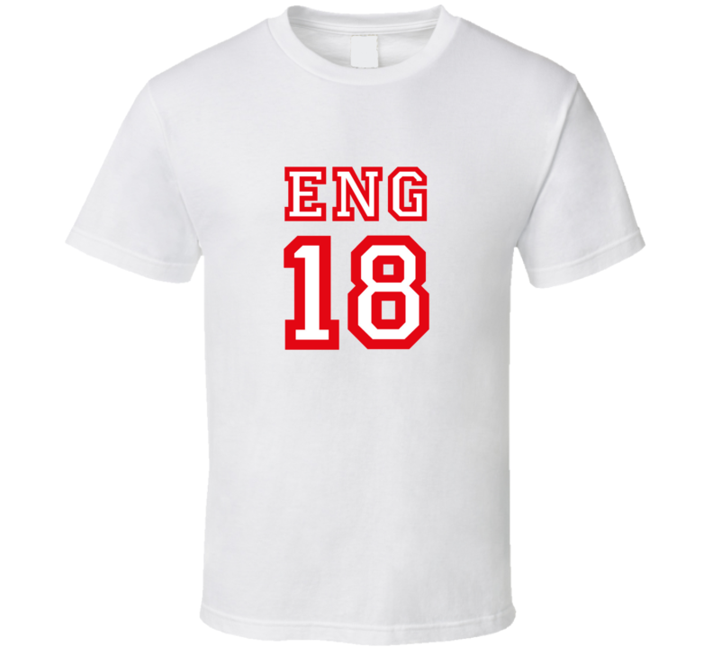 England 2018 World Cup Russia Socer Fan Supporter 18 T Shirt