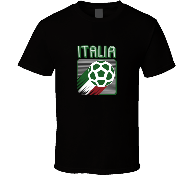 Italia Soccer Italy Football Retro Vintage Logo World Cup Fan Suppoter T Shirt