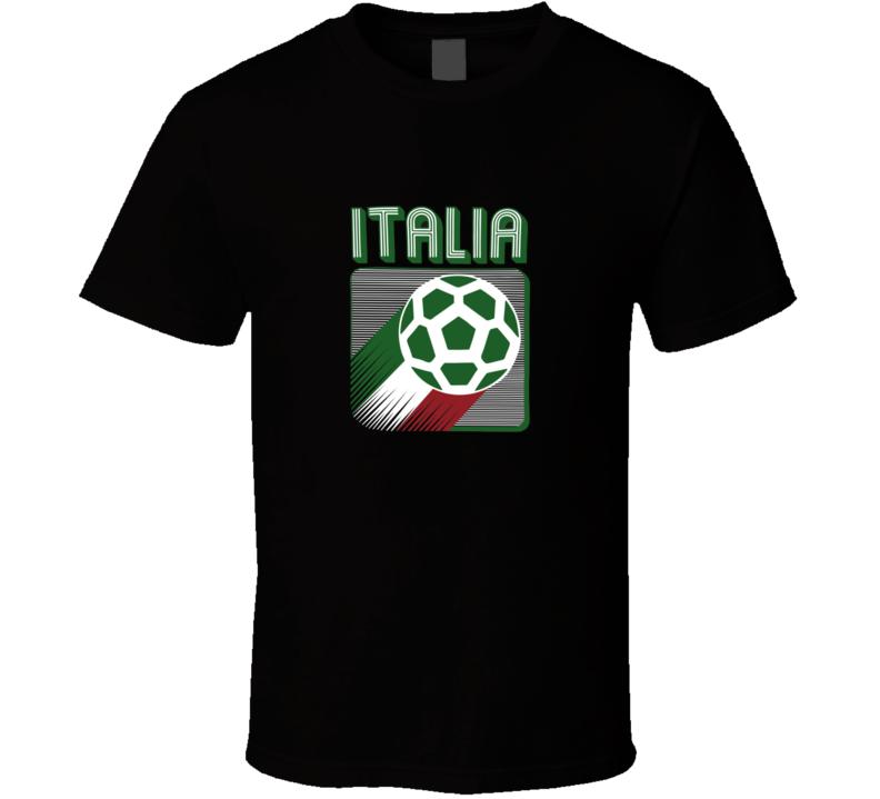 Italia Soccer Italy Football Retro Vintage Logo World Cup Fan Suppoter T Shirt