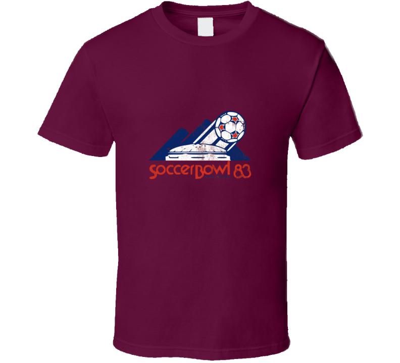 Vancouver Nasl Soccerbowl 1983 Vintage Retro Soccer Burgundy T Shirt