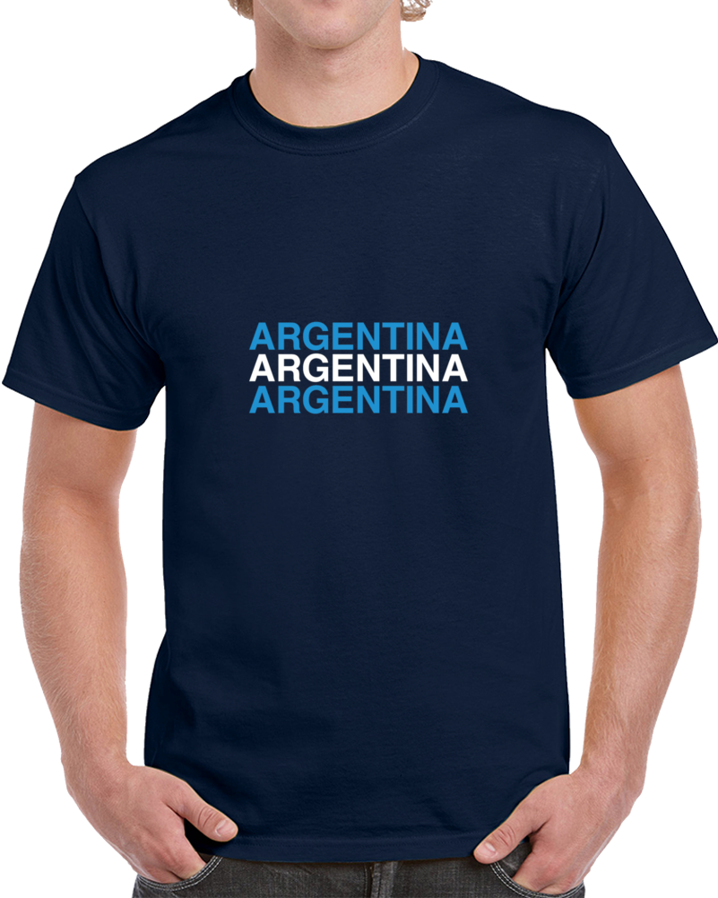 Argentina World Cup 2018 Flag Colors Soccer Hooligan Fan Supporter T Shirt
