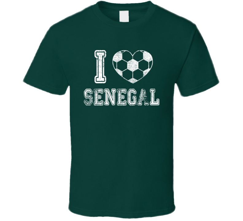 I Love Senegal World Cup 2018 Russia Fan Supporter T Shirt