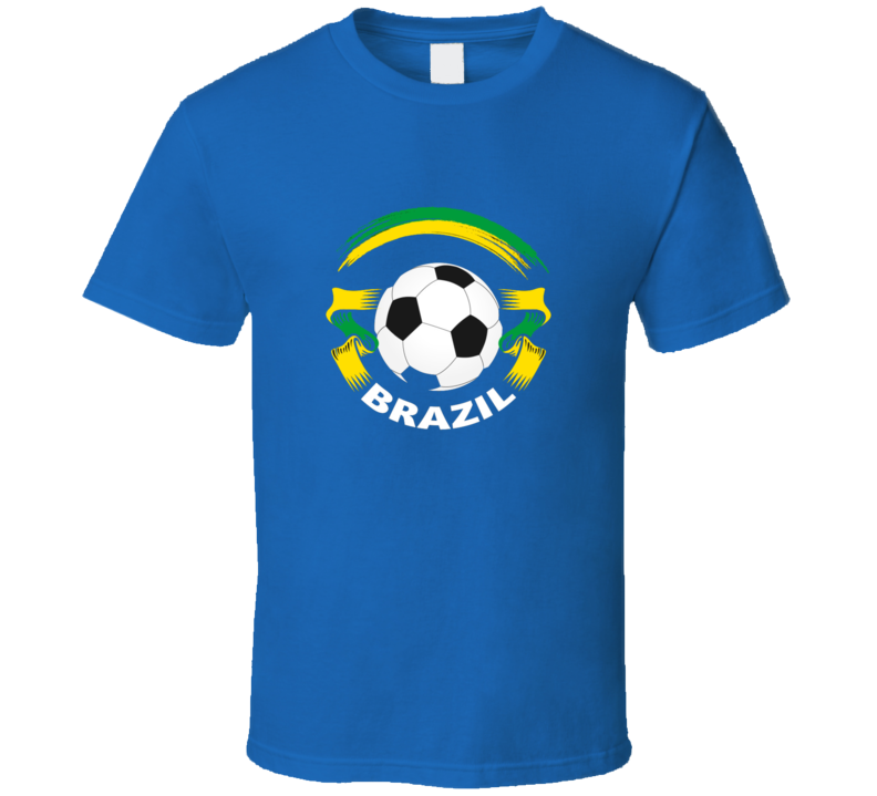 Brazil Soccer Ribbon World Cup Fan Supporter T Shirt