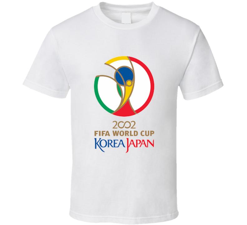 Fifa Korea Japan 202 World Cup Soccer Football Logo T Shirt