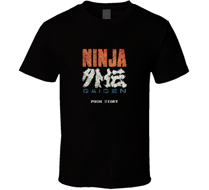 Ninja Gaiden Classic Retro Vintage Start Menu Video Gaming T Shirt