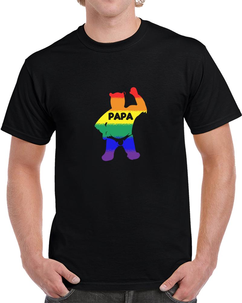 Papa Bear Gay Pride Sexyality Funny T Shirt