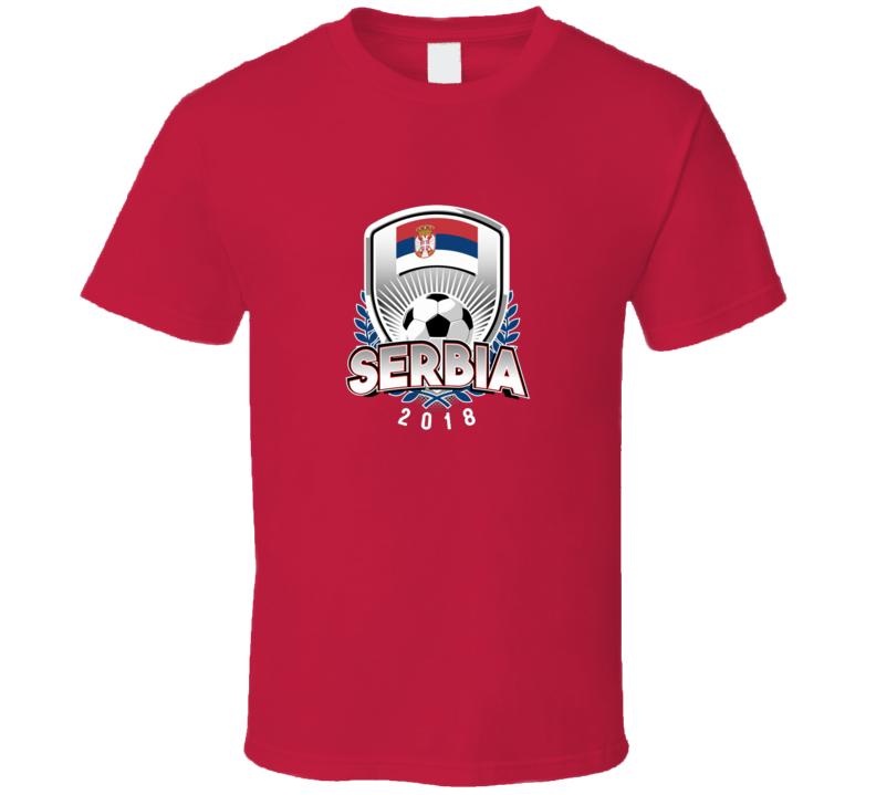Serbia Fan Supporter Wreath Soccer Footbal World Cup 2018 T Shirt