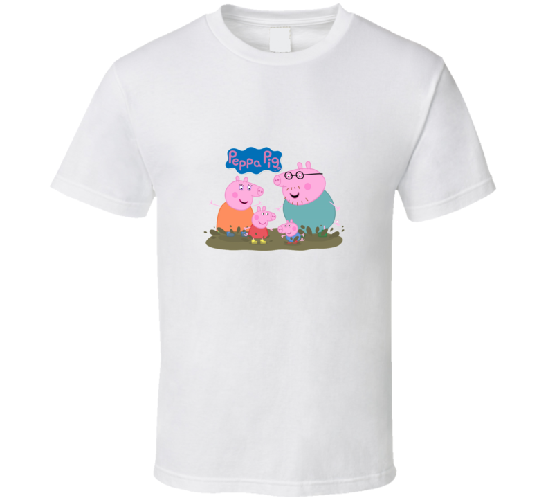 Pig Family Peppa Cartoon Tv Show T Shirt